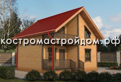 Планировка, комплектация и стоимость домов 8х8 из бруса от компании «Кострома Строй Дом»
