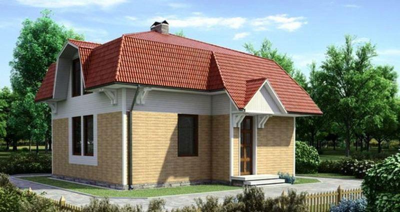 Четырехскатная (ломаная) крыша